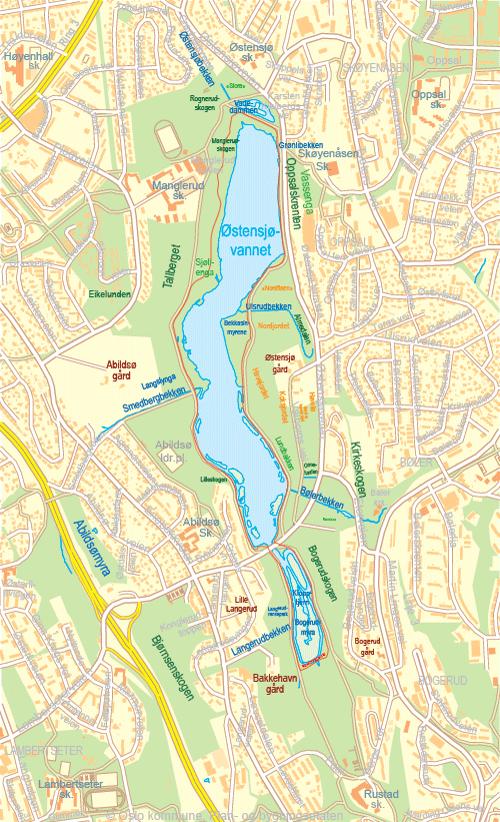 østensjøvannet kart Turforslag   ØVV på nett østensjøvannet kart